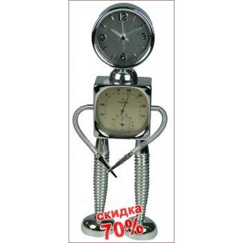 Часы робот с функцией будильник 13*5*29см