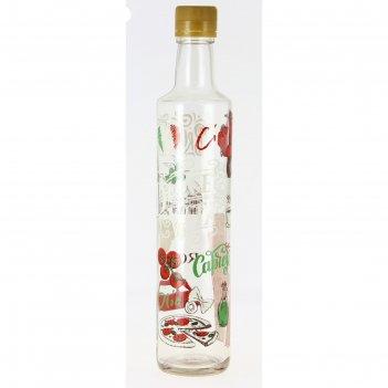 Бутылка для масла с крышкой 500 мл «лав итали»