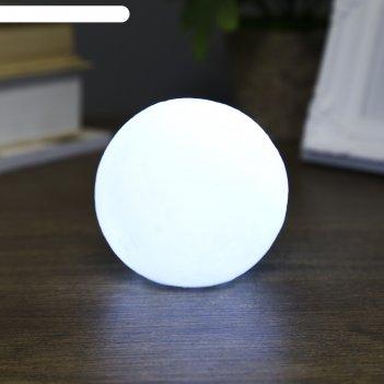 Ночник пластик луна белая маленькая от бат 3lr44 в компл 7,5х7,5х70 см