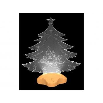 Фигурка с подсветкой елка 21*11*25 см.