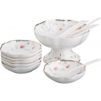 Набор для варенья на 6 персон 13 пр.пасадена:креманка+6 розеток+6 ложек (к