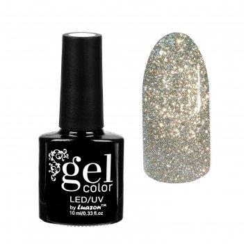 Гель-лак для ногтей сверкающая платина, трёхфазный led/uv, 10мл, цвет 001