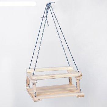 Качели подвесные, деревянные 30*40 см плоские