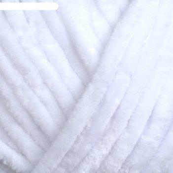 Пряжа dolce 100% микрополиэстер 120м/100гр (741 белый)