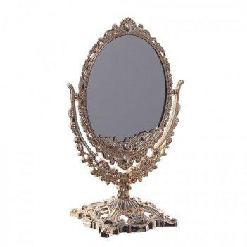 Зеркало настольное двустороннее с увеличением , l13 w9 h22 см