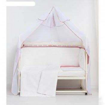 Комплект в кроватку 7 пр. аристократка, сатин, хл100 115 гм