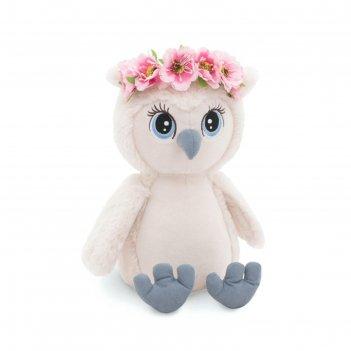 Мягкая игрушка сова лиза: нежный цветок, 20 см os006-97/20