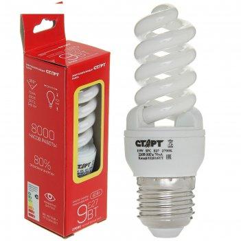 Лампа энергосберегающая старт эко, 9 вт, e27, 2700 k, 230 в