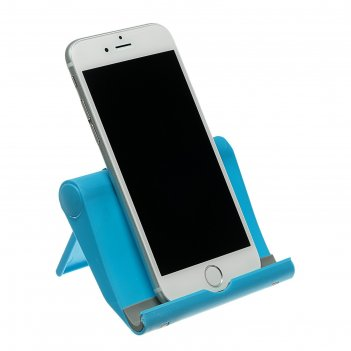 Подставка для телефона luazon, складная, регулируемая высота, синяя 254170