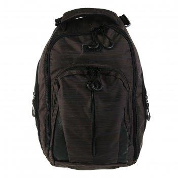 Рюкзак молодёжный luris спринт 3 42x29x16 см эргономичная спинка, коричнев