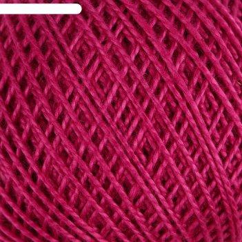 Нитки вязальные ирис 150м/25гр 100% мерсеризованный хлопок цвет 1410