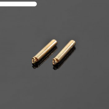 Зажим пружинка под шнур позолота 11*2мм (внутр.1мм), посеребрение (пара)