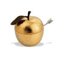 Банка для меда с ложкой «золотое яблоко», размер: 10 х 9 х 11 см, материал
