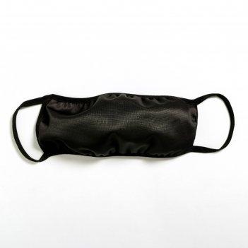 Защитная тканевая маска для лица, размер l, чёрная