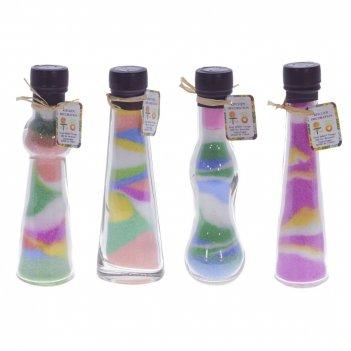Бутылка декоративная , l5,5 w4 h17 см, 4в.
