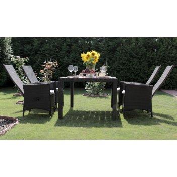 Комплект садовой мебели из ротанга lavras 165 (стол + 4-6 стульев)