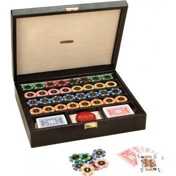 Набор для покера renzo romagnoli в черном боксе,320 фишек,пл