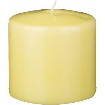 Свеча высота=10 см.диаметр=10 см.фисташковая