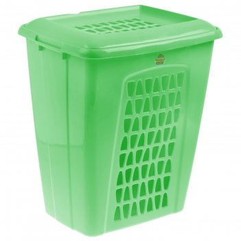 Корзина для белья 45 л молетта, прямоугольная, цвет зеленый