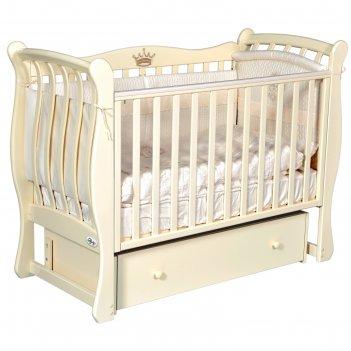 Детская кровать oliver viana elegance, автостенка, универсальный маятник,
