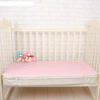 Наматрасник из клеёнки с пвх-покрытием, 60х120 см, в кроватку, цвета микс