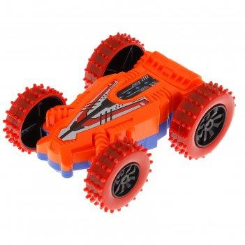Машина инерционная перевертыш, цвета микс