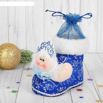 Конфетница ботинок снегурочка, вместимость 150 грамм
