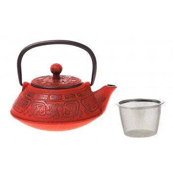 Заварочный чайник чугунный с эмалированным покрытием внутри 400 мл. (кор=8