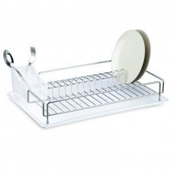 Сушилка для посуды и приборов, с поддоном, цвет хром, kb006