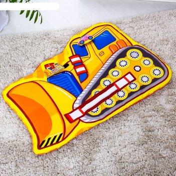 Развивающий коврик детский «маленький строитель», 2 игрушки