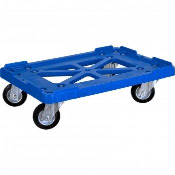 Тележка для  ящиков 600х400, грузоподъемность 200 кг. синяя