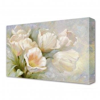 Картина на холсте белоснежная мечта 60*100 см