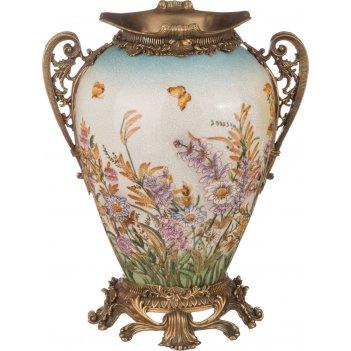 Декоративная ваза 24*19 см. высота=31 см. (кор=2шт.)