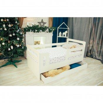 Кроватка-манеж горизонтали с ящиком белый