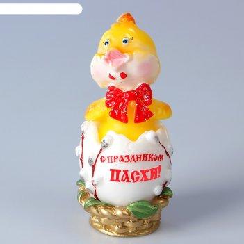 Декоративная свеча «пасхальный цыпленок»