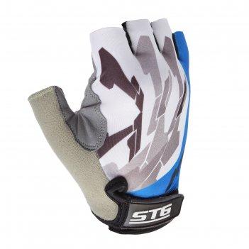 Перчатки велосипедные, размер m, цвет синий