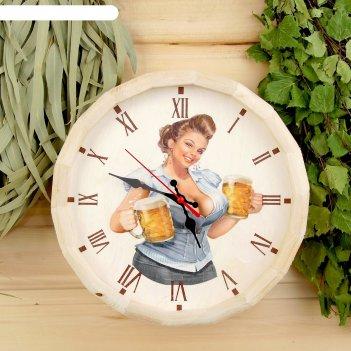 Часы банные бочонок добропаровъ. пивко будешь?