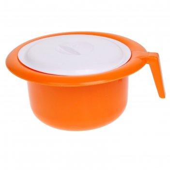 Горшок детский с крышкой, цвет: оранжевый