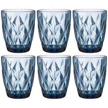 Набор стаканов ромбо из 6шт. 240мл. серия muza color высота=10 см (кор=6на