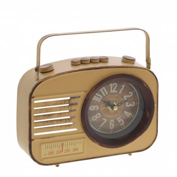 Часы настольные декоративные радиоприемник , l21 w6 h16 см, (1хаа не прила