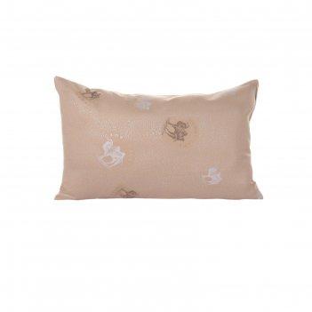 Подушка верблюжья шерсть 40х60 см, чехол тик, (сумка)