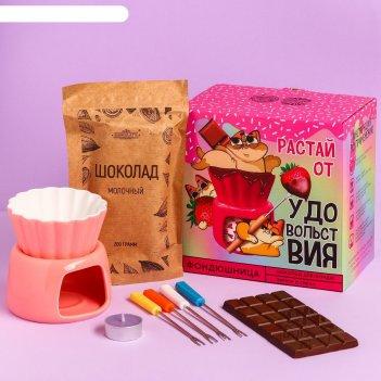 Набор для приготовления фондю «растай от удовольствия»: шоколад 200 г., фо