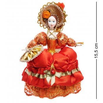 Rk-733/ 3 кукла-шкатулка дама с веером