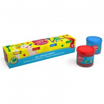 Краски пальчиковые набор 4 цвета по 100 мл artberry с алоэ вера