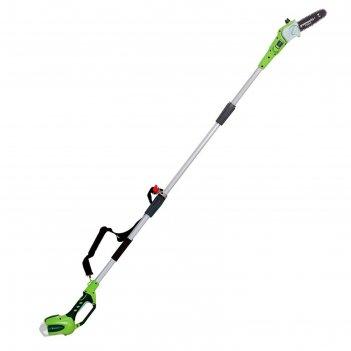 Кусторез greenworks g40ps20, 40в, высотный, шина 40 см, штанга 240 см, без