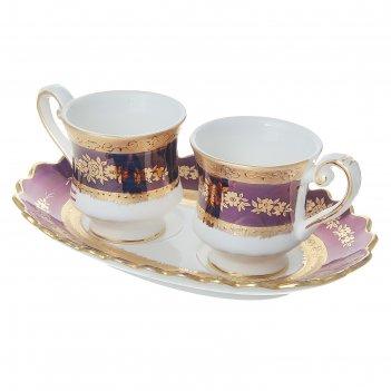 Набор чайных кружек на блюдце антониэтта