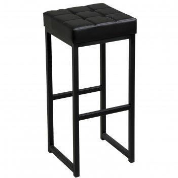 Стул барный лофт-2 без спинки, черный/черный