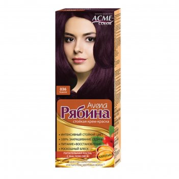 Крем-краска для волос рябина avena, тон 036, божоле