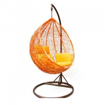 Дачное подвесное кресло kvimol 0001 orange, садовая мебель