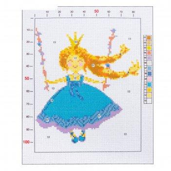 Канва для вышивания с рисунком «принцесса», 20 х 25 см